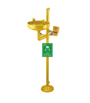 立式洗眼器WJH0359A黄色